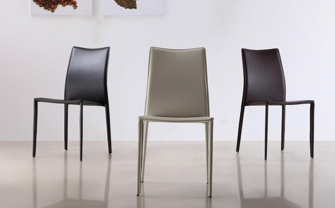 כסאות מטבח מעור קשיח