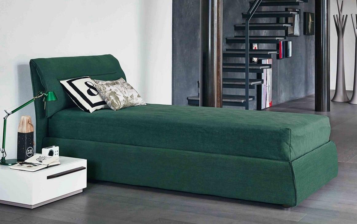 מיטות זוגיות: מיטה Campo בגוון ירוק