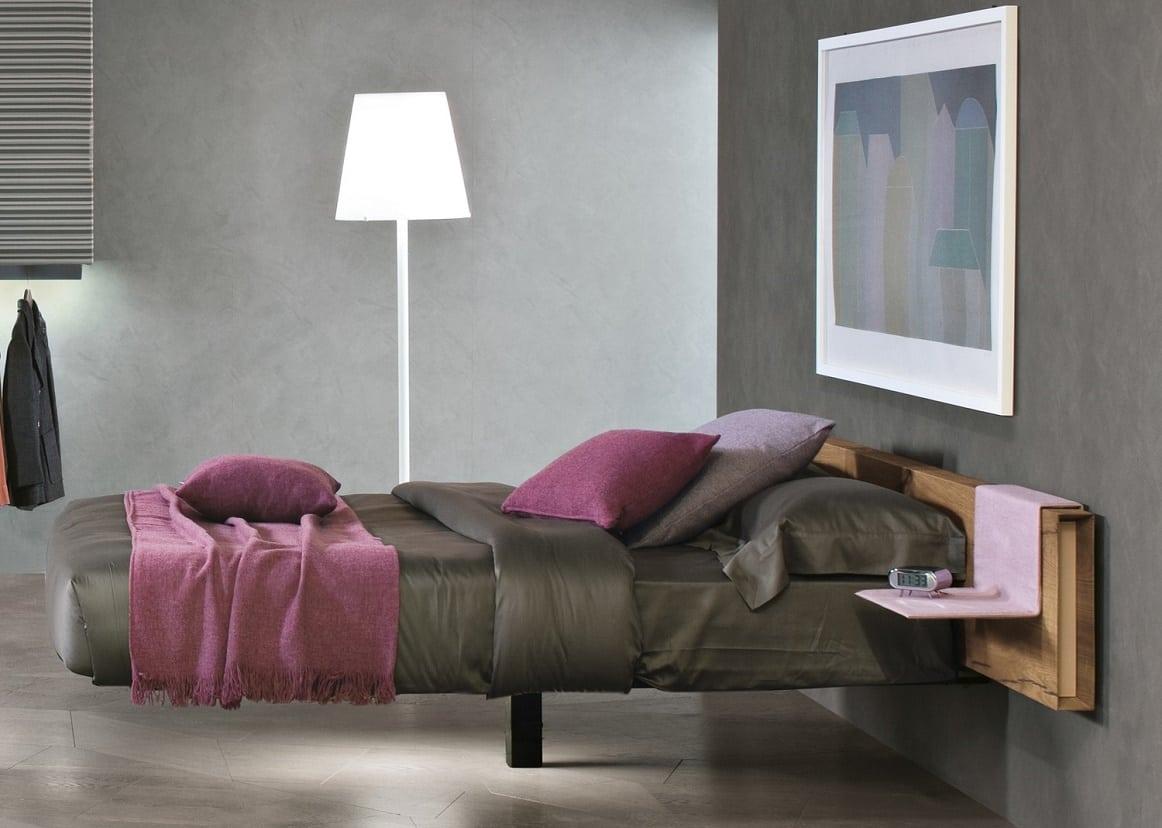 מיטות זוגיות: מיטה זוגית בעלת רגל אחת מרכזית Fluttua