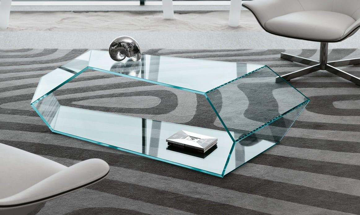 שולחן זכוכית לסלון דגם Dekon