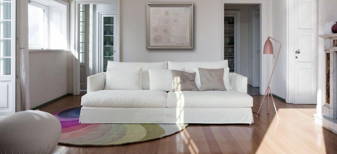 ספה איטלקית לבנה