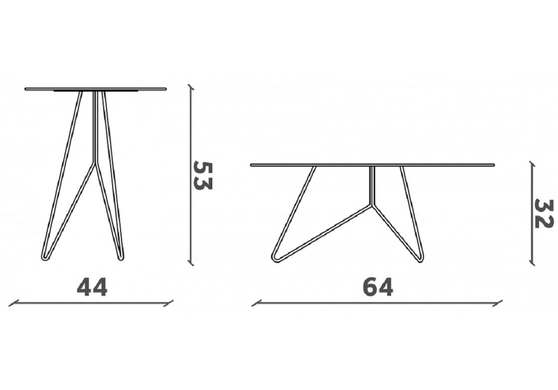 מידות שולחן שיש מעוצב