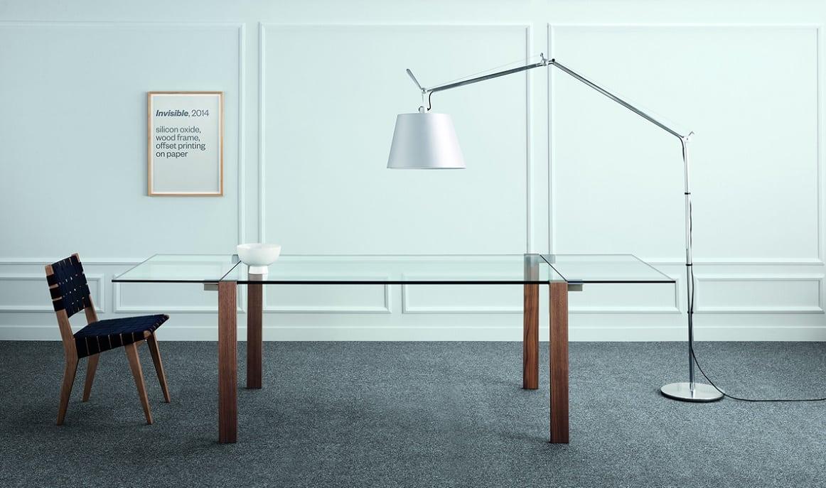 שולחן אוכל זכוכית נפתח - Livingstone2