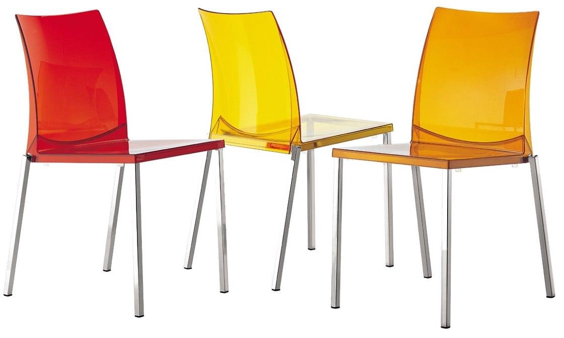 כסאות אוכל צבעוניים ושקופים