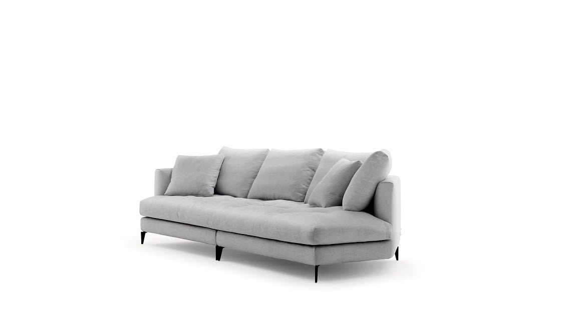 ספות לסלון בצבע אפור