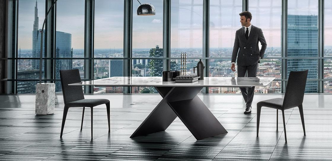 שולחן AX עם משטח שיש