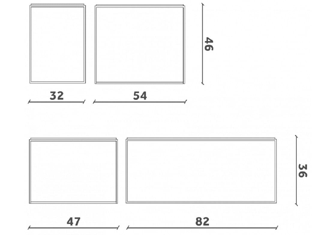 מידות שולחן סלון