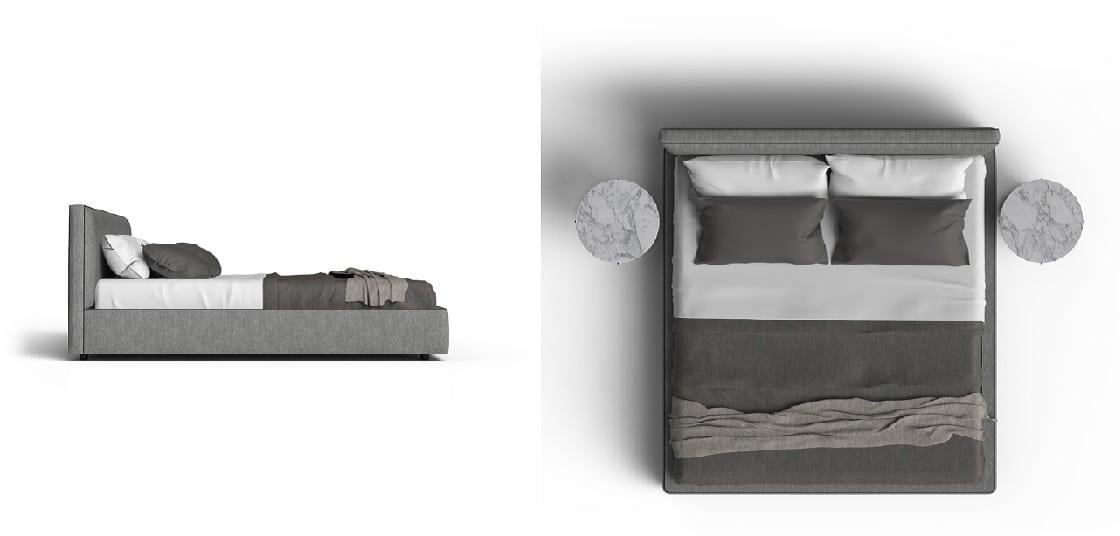 מיטה זוגית מעוצבת Laguna