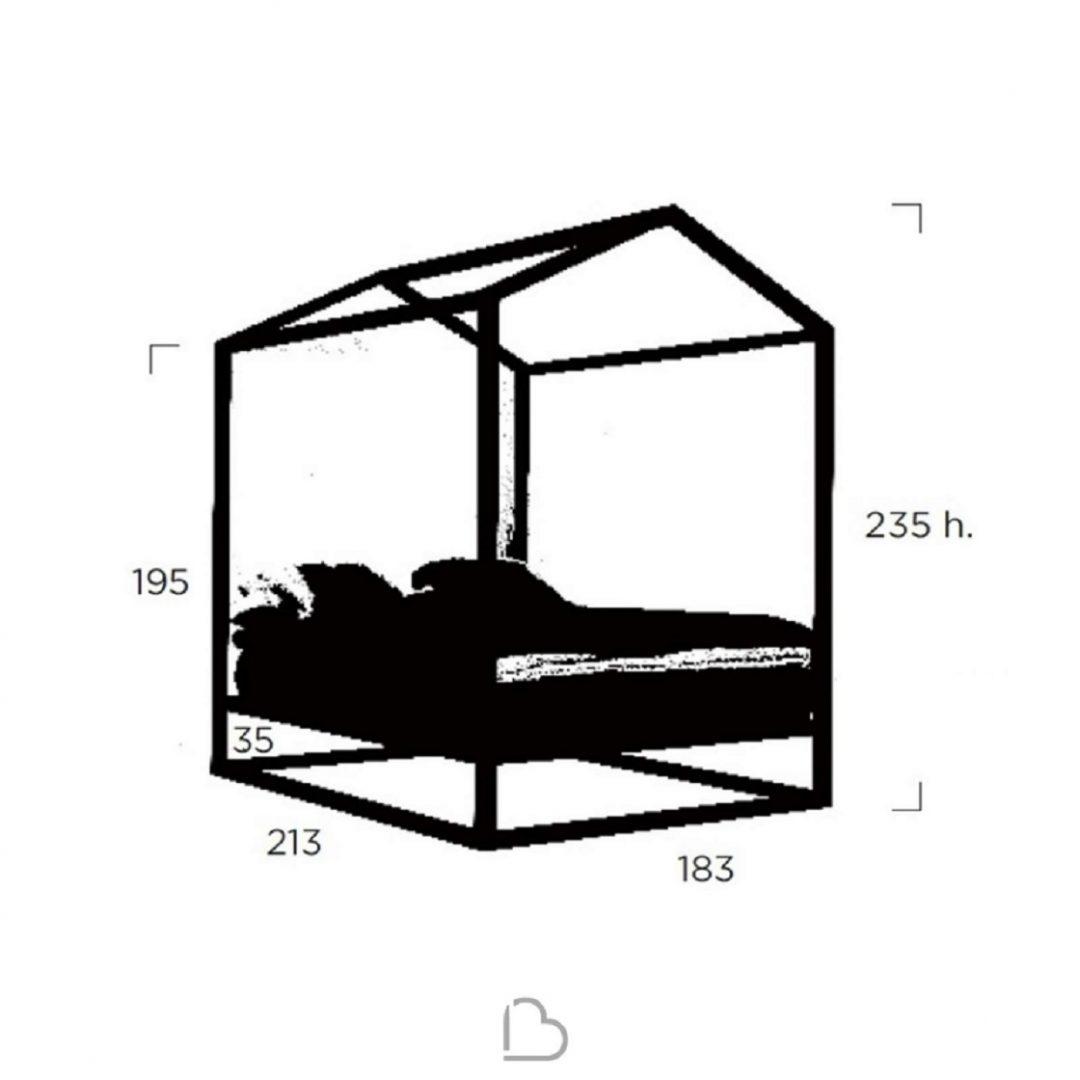 תרשום מיטה זוגית מעוצבת