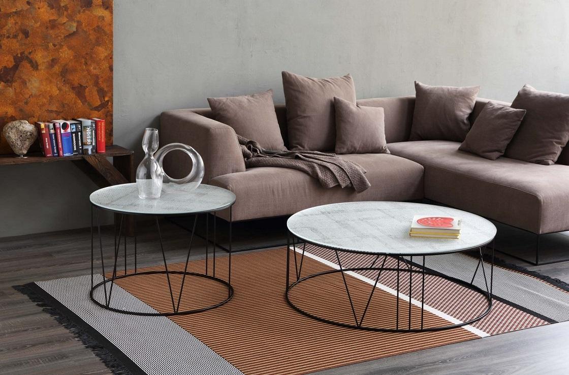 שולחן סלון עגול מאיטליה