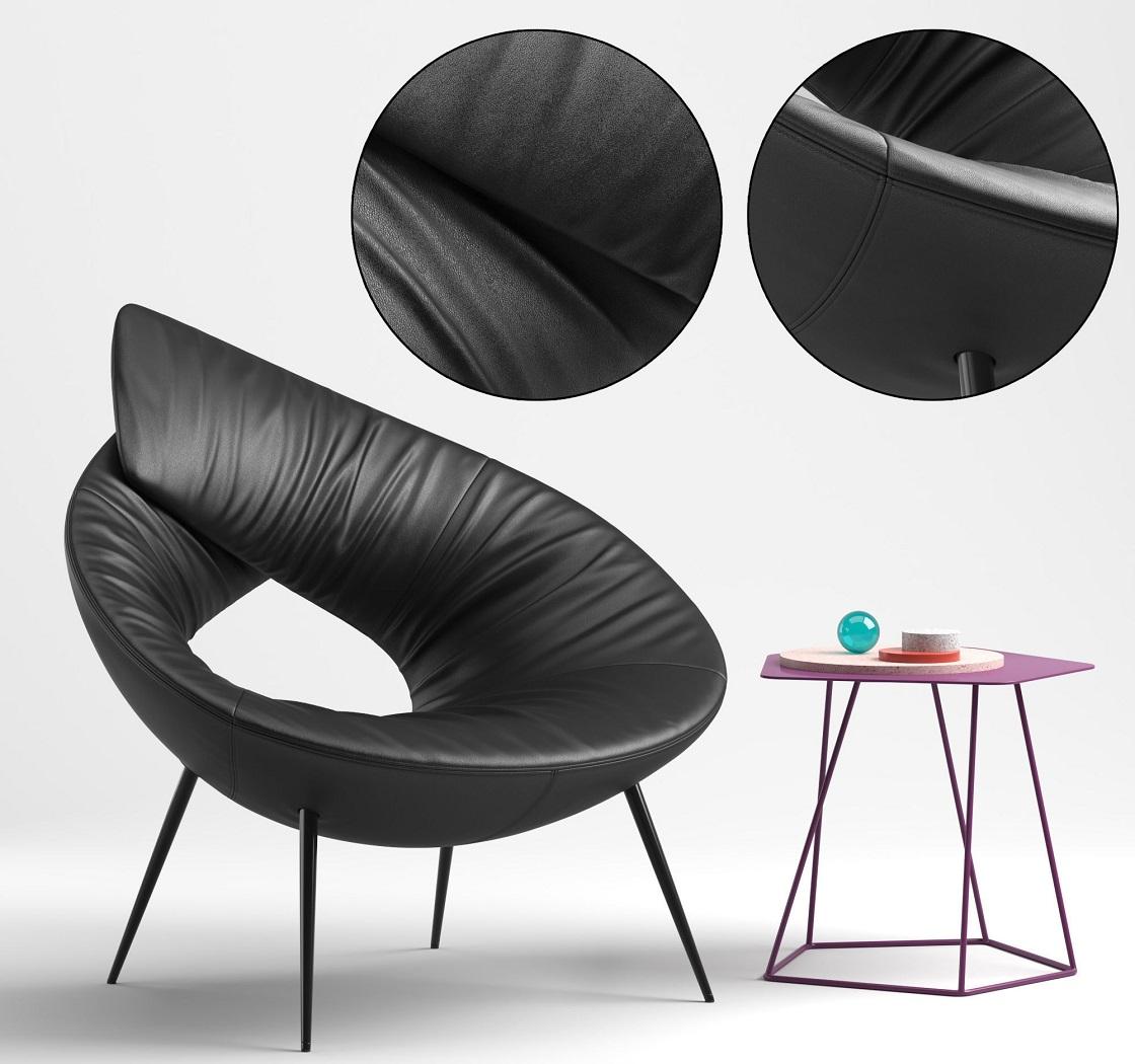 כורסא מעוצבת מעור Lock